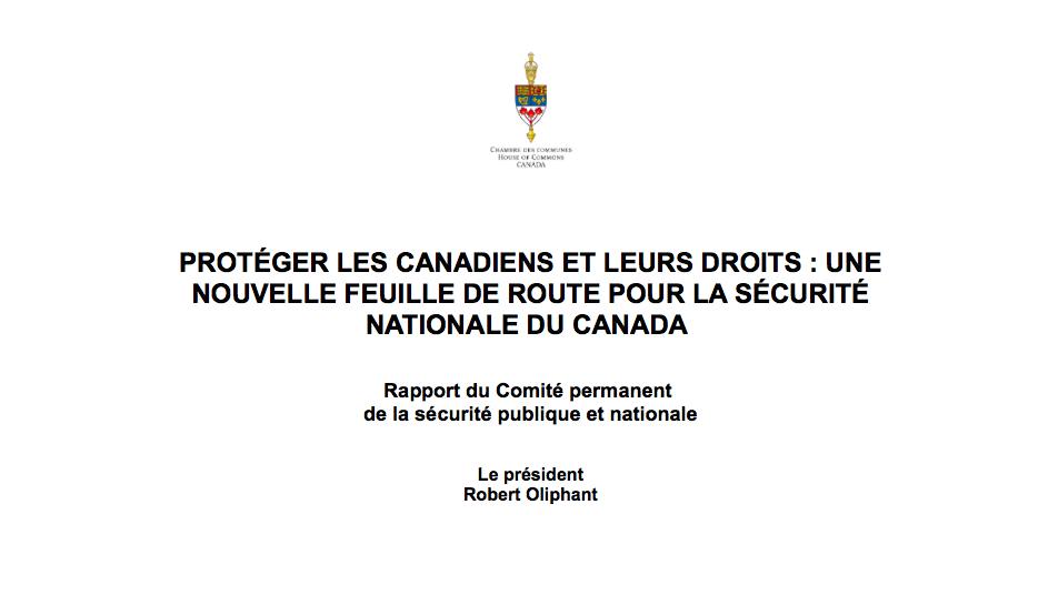 rapport SECU